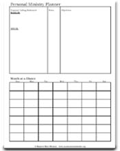 Personal Ministry Planner - Page 1